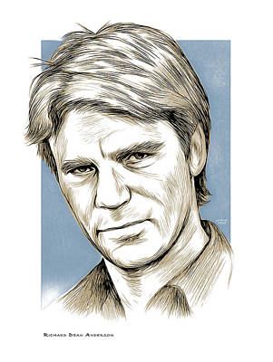 Mixed Media - Richard Dean Anderson Color by Greg Joens