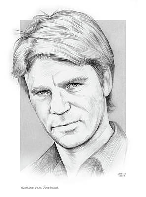 Drawings - Richard Dean Anderson by Greg Joens