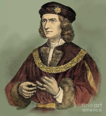 Drawing - Richard IIi Of England Portrait by English School