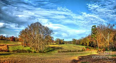 Photograph - Richland Creek Bottomland  Greene County Landscape Art by Reid Callaway
