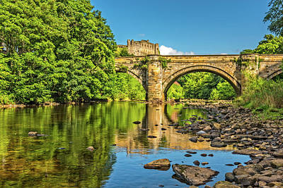 Richmond Castle And The River Swale Art Print by David Ross