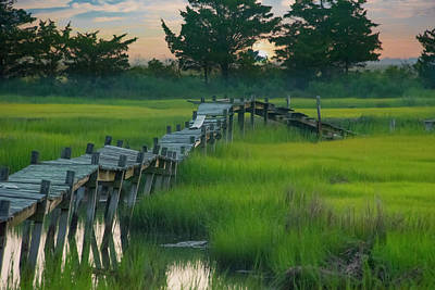 Photograph - Rickety Old Boardwalk - North Wildwood New Jersey by Bill Cannon