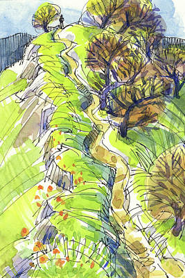 Painting - Ridge Trail by Judith Kunzle