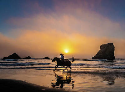 Photograph - Riding Into The Sunset. by Usha Peddamatham