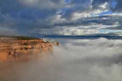 Photograph - Rim Rock Drive Above Fog In Fruita Canyon by Ray Mathis