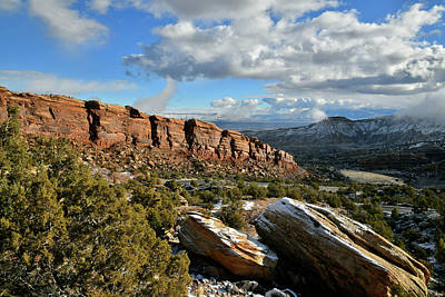 Photograph - Rim Rock Drive At East Entrance Of Colorado National Monument by Ray Mathis