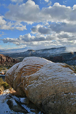 Photograph - Rim Rock Drive Boulders In Colorado National Monument by Ray Mathis