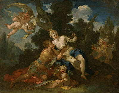 Painting - Rinaldo And Armida by Michele Rocca