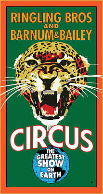 Digital Art - Ringling Circus by Gary Grayson