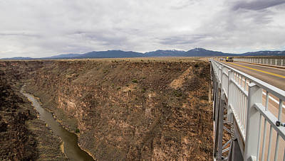 Photograph - Rio  Grande Gorge And Us 64 by Tom Cochran