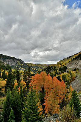 Photograph - Rising Clouds Over Fall Colors Near Ilium Co by Ray Mathis