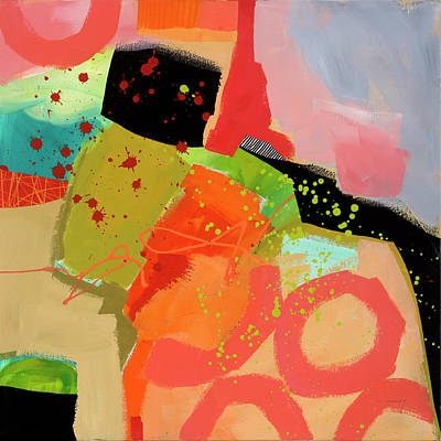 Collage Painting - Rising Even Faster by Jane Davies