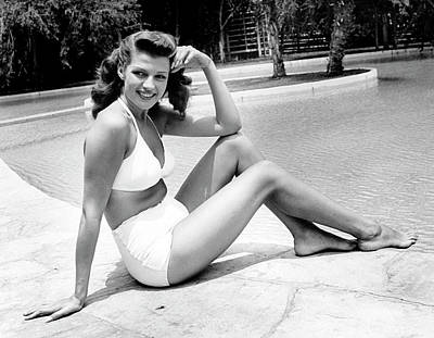 Photograph - Rita Hayworth by Peter Stackpole