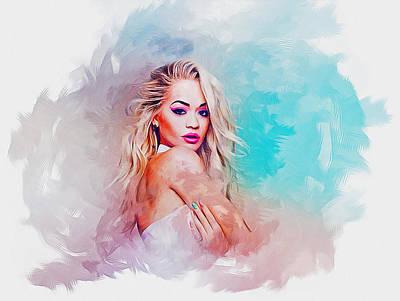 Digital Art - Rita Ora by Ian Mitchell