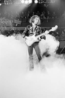 Photograph - Ritchie Blackmore On Stage by Fin Costello