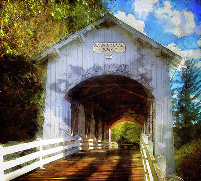 Photograph - Ritner Creek Covered Bridge by Thom Zehrfeld