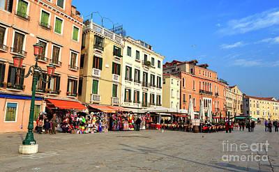 Photograph - Riva Degli Schiavoni Venice by John Rizzuto