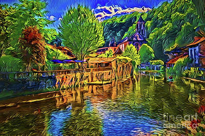 Painting - France A18-19 by Ray Shrewsberry