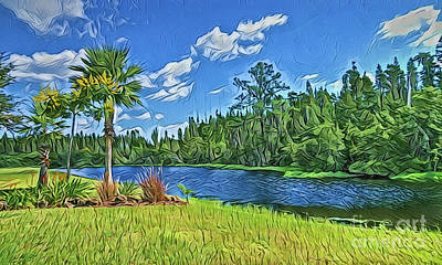 Painting - River A18-47 by Ray Shrewsberry