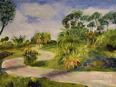 Painting - River Bend Park In Jupiter by Donna Walsh