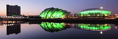 Photograph - River Clyde Waterfron Twilight Reflections by Grant Glendinning