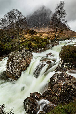 Photograph - River Coupall In Torrent by Diarmid Weir