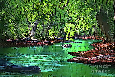 Painting - River Cove A18-26 by Ray Shrewsberry