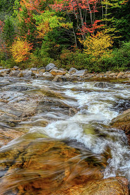 Photograph - River Cross, Swift River Nh by Michael Hubley