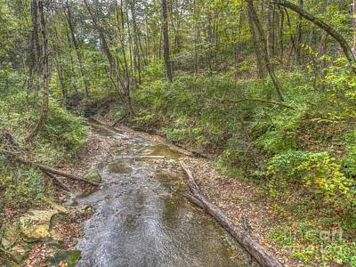 Photograph - River Flowing Through Pine Quarry Park by Jeremy Lankford