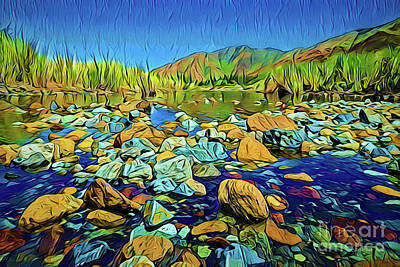 Painting - River Gully A18-27 by Ray Shrewsberry