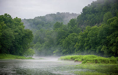 River Mist Art Print