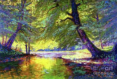 Woods Wall Art - Painting - River Of Gold by Jane Small