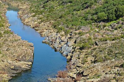 River On The Rocks. Color Version Art Print