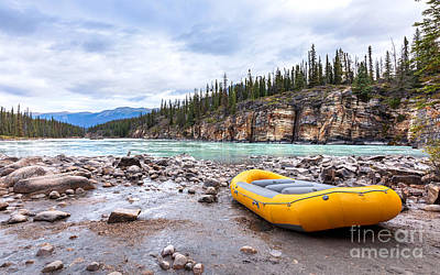 Photograph - River Rafting by Alma Danison