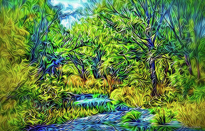 Digital Art - River Rapture Flowing by Joel Bruce Wallach