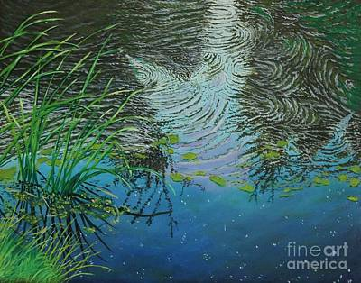 Painting - River ...ripples And Reeds by Bob Williams