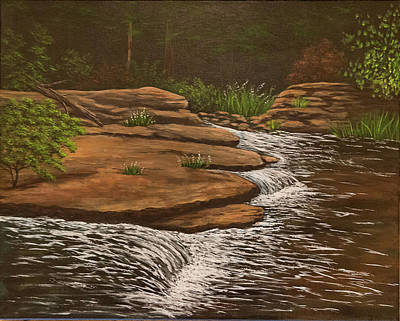 Painting - River Rocks by Gloria Johnson