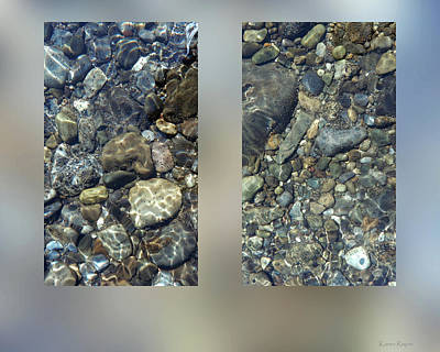 Photograph - River Stones by Karen Rispin