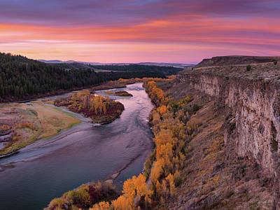 Photograph - River Sunrise by Leland D Howard