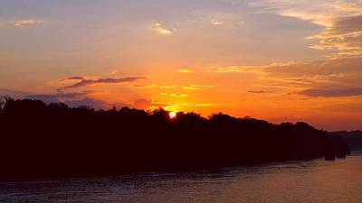 New Years Royalty Free Images - River Sunset  Royalty-Free Image by Ally White