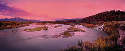 Photograph - River Sunset by Leland D Howard