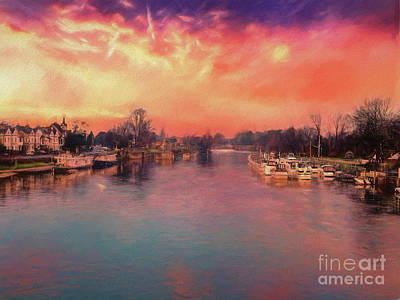 Photograph - River Thames At Molesey by Leigh Kemp