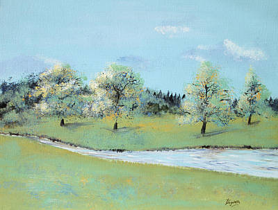 Painting - River Windrush by Elizabeth Lock