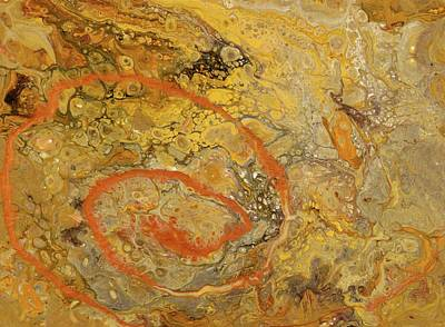 Riverbed Stone Art Print
