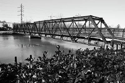 Photograph - Riverfront Park Bridge B W 1 by Joseph C Hinson Photography