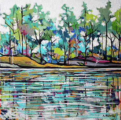 Wall Art - Painting - River's Edge by Alison Newth