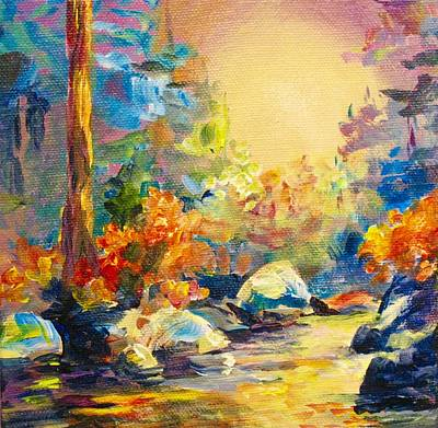 Painting - Rivers Glow by Bonny Roberts