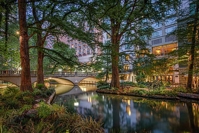 Photograph - Riverwalk Early Morning II by Steven Sparks