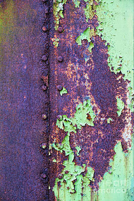 Photograph - Rivets Rust And Paint by Tim Gainey