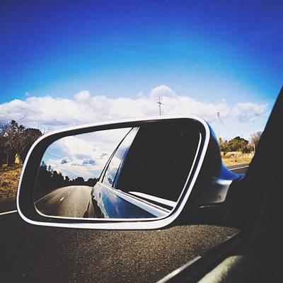 Road Reflecting On Side-view Mirror Art Print by Jessica Gimenez / Eyeem